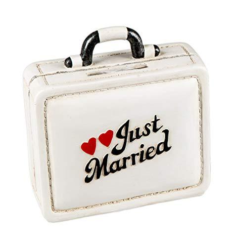 Unbekannt Spardose Just Married Koffer Shabby chic Reisekoffer Hochzeit Heirat Sparbüchse Geldgeschenk