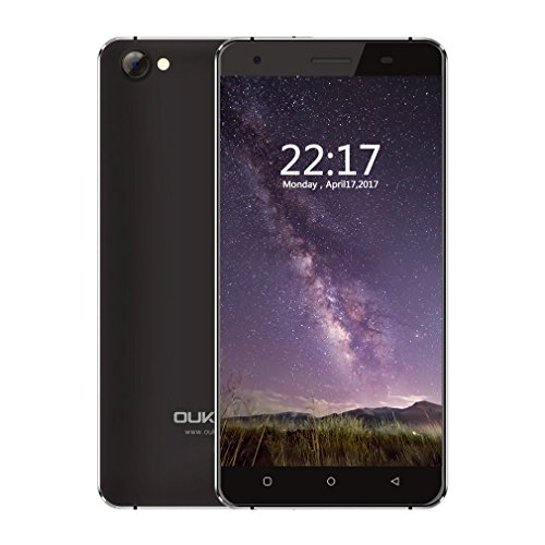OUKITEL C5 - Smartphone stoßfest 5 Zoll HD Touchscreen Android 7.0 (2GB RAM+16GB ROM, Quad-Core CPU, Dual SIM, ohne Vertrag, 3G), schwarz