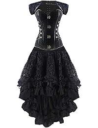 Vestido De Ramillete De Las Vestido Ramillete Steampunk De Clásico Mujeres Gótico Chicos Falda Larga Moda