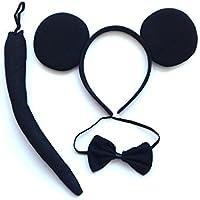 2 pcs disfraz Black Mouse,accesorio de disfraz,Mickey Minnie