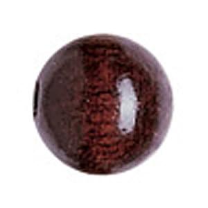 Gütermann / KnorrPrandell 6026591 - 6mm de perlas de madera, piezas esféricas sepia, 125 / bolsa Importado de Alemania