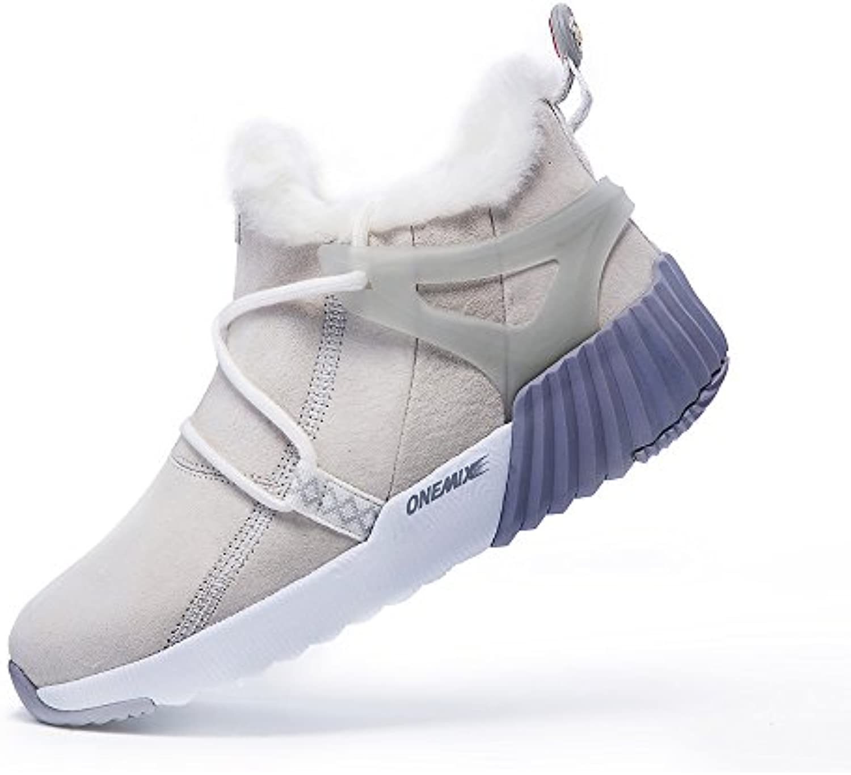 onemix Damen Herren Warm Schneestiefel gefüttert Kurzschaft Sneaker Winter Stiefeletten Schneestiefel für Outdoor