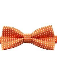 Corbata de lazo formal ajustable del algodón para los niños con el color del caramelo del