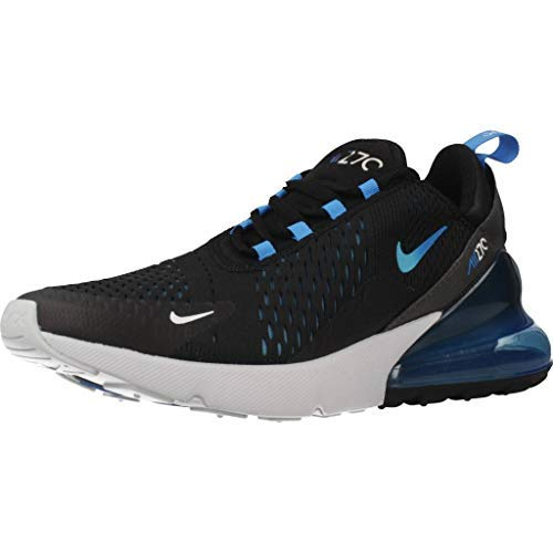 Nike Mens Air Max 270 Running Shoes Black/Photo Blue/Pure Platinum AH8050-019 Size 11.5 -