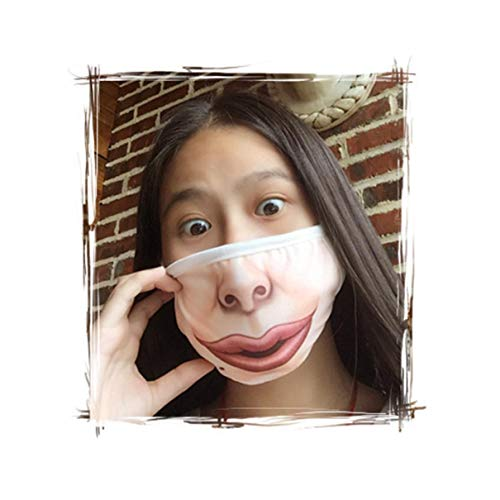 Unisex Kühle Hip Hop-Mund-Maske 3D Funny Face Masken weicher Baumwolle atmungsaktiv Maske für Frauen Männer