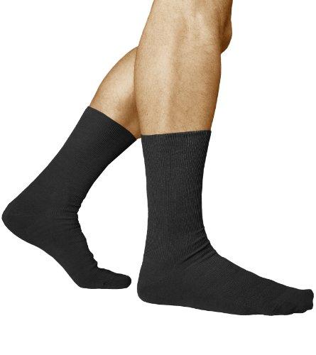 3-paia-calzini-non-elastici-per-piedi-sensibili-uomo-98-cotone-pettinato-vitsocks-salute-42-43-nero