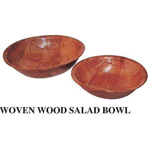 Winco WWB-8 Wooden Woven Salad Bowl, 8-Inch by Winco