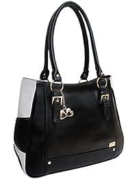 I Define You Women Black & Grey Color Handbag