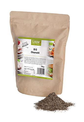 Bio Chiamehl (nicht entölt!) von Lizza: Glutenfrei, Low Carb, Vegan, viele Proteine, Ballaststoffe und Omega-3. Gesund und schlank (1x 750g)