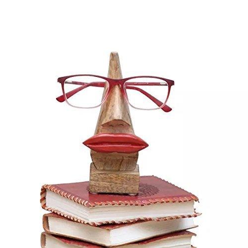 """Kamla Verkäufer Dekorativer Brillenhalter Holz Schlüsselanhängerform Home Decor Display Ständer Schreibtisch Dekoration, Holz, Red Lips, 6.5\"""""""