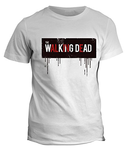 Tshirt The walking dead alive - zombie - in cotone by Fashwork Bianco
