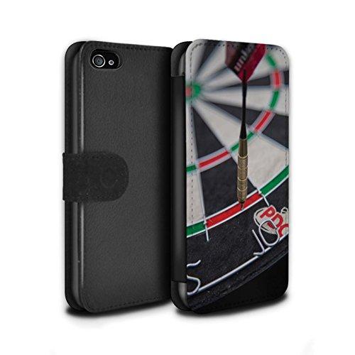 Stuff4 Coque/Etui/Housse Cuir PU Case/Cover pour Apple iPhone 4/4S / Pack 7pcs Design / Fléchettes Photo Collection Double 10