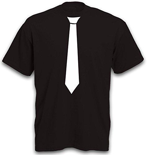 T-Shirt Krawatte Schlips Motiv Mode Accessoire JGA Krawatten tshirt b&c Gr. XL