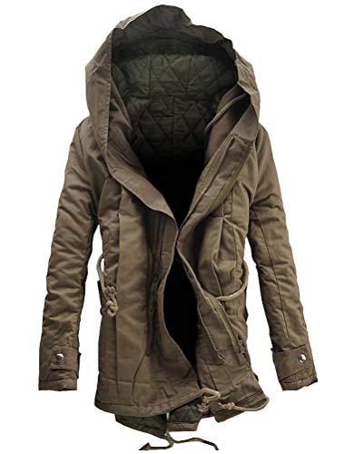 Robo parka con cappuccio da uomo giubbotto cappotti caldi zip up invernale,it s-2xl