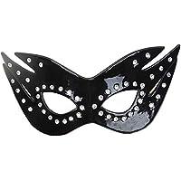 JASNO Unisex Holiday Halloween Leather Eye Mask Party PU Eyeshade Eyepatch Cosplay Props Suministros para Adultos,Black