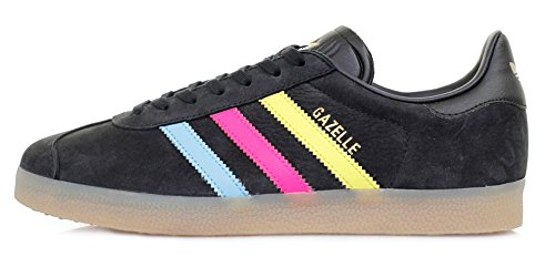 adidas Gazelle, Baskets Basses Mixte Adulte Noir (Core Black/bright Cyan/shock Pink)