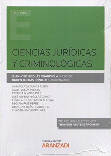 Ciencias Jurídicas y Criminológicas (Papel + e-book) (Monografía)