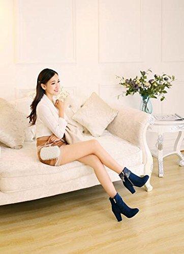 2016 Herbst und Winter Nubuck kurz Stiefel Damen Stiefel Blau
