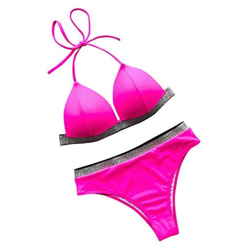 Mypace Mollige Set Push Up High Waist Sportlich Grosse Bikini Für Damen Bikini Solid Set Badeanzug Zweiteiler Gefüllter BH Bademode Beachwear -