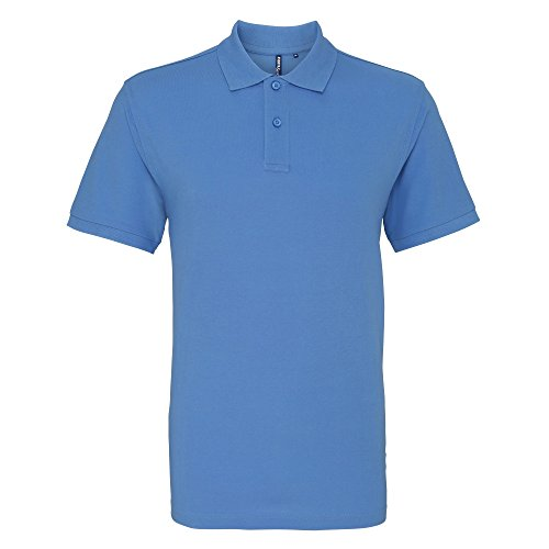 Asquith & Fox Herren Polo-Shirt, Kurzarm Kornblume