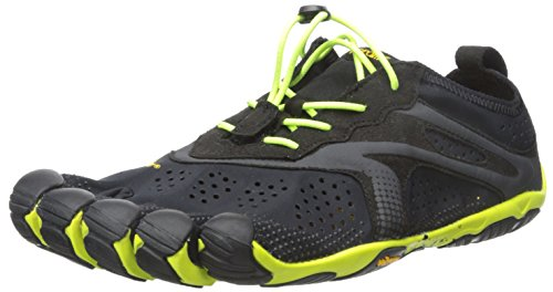 Vibram Five Fingers V-RUN, Scarpe da corsa Uomo, Multicolore (Black/Yellow), 43