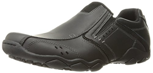 Skechers Diameter Valen Mens Lightweight Slip On Shoes 10 Black