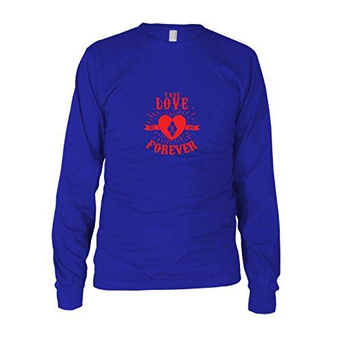 Quinn Love Forever - Herren Langarm T-Shirt Blau