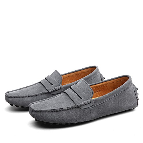XiaoYouYu Loafers, Basses homme Gris