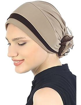 Pañuelo doblado acolchado para pérdida de cabello / cáncer / quimio