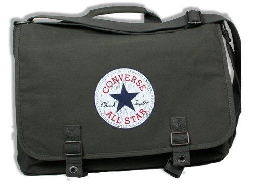 Olivgrüne Converse All Star Vintage Chucks Tasche als Schultertasche Bag in Military Grün -