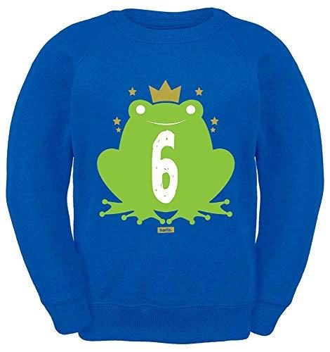 HARIZ Kinder Sweater Süßer Frosch 6 Geburtstag Lustig Überraschung Plus Geschenkkarten Royal Blau 116/5-6 Jahre -