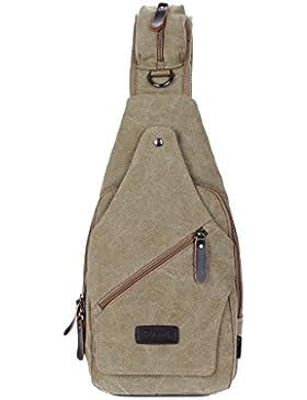 Super Moderne Leinwand BAG Farbe Umhängetasche Cool Fashion Messenger Bag elegant Brust Tasche