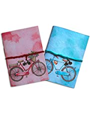 SPcreation 2 Vintage Bicycle Handmade Handicraft Diary Journal