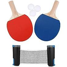 Juego de Tenis de Mesa - Red de Ping Pong, Paletas y Pelotas