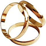 FENICAL Three Rings Diamante Scarf Ring Fashionable Scarf Ring Scarves Buckle Clip Clamp For Dressing (Gold)