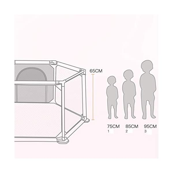 Playpens ,6 Panels Portable Foldable Folding,Children's Play Fence Home Drop-proof Baby Indoor Toddler 145 * 65 * 77cm (color : B) Playpens ★ hexagonal children's fence, size: 147 * 65 * 77cm, applicable number: 2~3 people, applicable age: 5 months to 3 years old, material: ABS angle PVC connector Oxford cloth net ★Playpen is the baby's little world, several small baby can play a role inside the game, play house, such a space, the ability to exercise various aspects of your baby, your baby is no longer playing outside all day makes the body dirty just trouble ★Are you a lot of toys for your baby makes a mess at home to worry about? In fact, is an oversized toy fence saving cabinet, you can put your baby's toys on the fence, usually to let your baby play in the fence, that meets the baby playing on the mind, but also to maintain a clean and tidy home 5