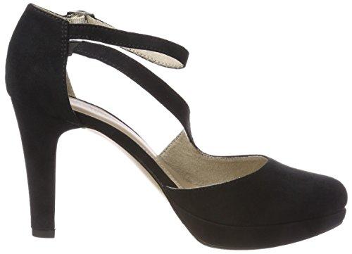 s.Oliver 24402, Scarpe con Cinturino Alla Caviglia Donna Nero (Black)