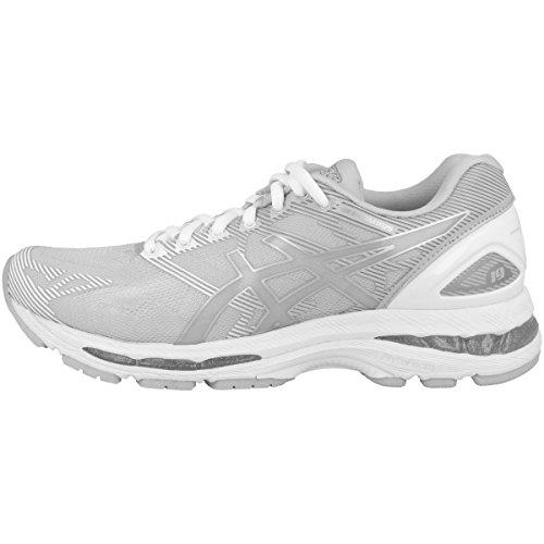 41hpRYibnTL. SS500  - ASICS Womens Gel Nimbus 19 T750N-9693 Glacier Grey/Silver / White