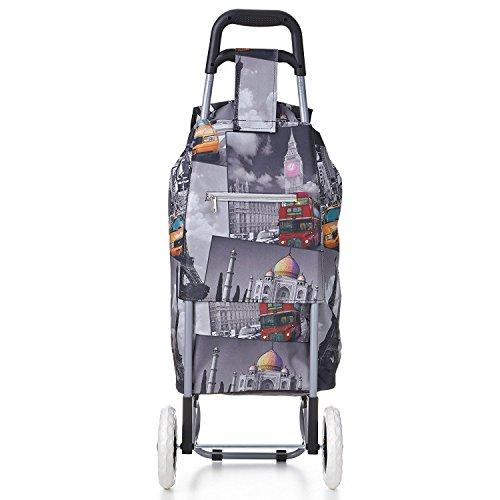 Hoppa 47 litre Lightweight Folding Shopping Trolley - Cities