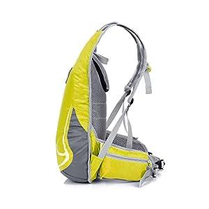 14L Impermeable Mochila de Senderismo Paquete del Alpinismo ligero mochila de viaje Escalada Marcha Camping Ciclismo Deporte Al Aire Libre (Amarillo)
