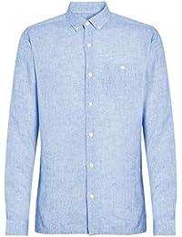 camicia lino Amazon it Uomo Abbigliamento v8Ewp5wq