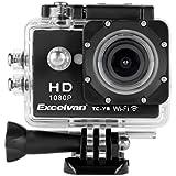 Excelvan -  Caméra Sport 30M Étanche 1080p 12M, TC-Y8 WiFi,  HD H264 + Kit d'Accessoires - Noir