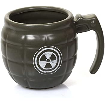 Fizz Creations Grenade Mug – Soldier Style Hand Grenade Coffee Mug made of fine ceramic – Army Mug for men is perfect Dads Army Mug