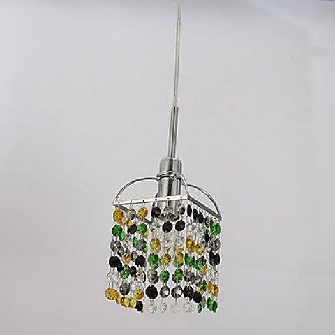 LYNDM-Miglior regalo di Natale,Mini Alfa Strass ciondolo di cristallo una luce , 220-240V-verde