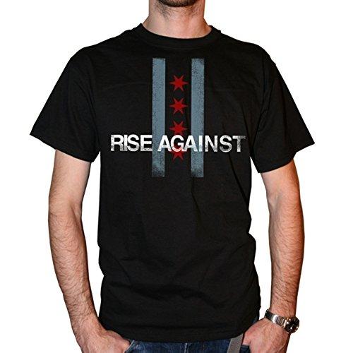 Rise Against - Flag T-Shirt, schwarz, Grösse XL -
