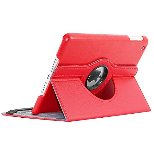 ebestStar - Coque Compatible avec iPad Mini 1/2/3 Apple Housse Protection Etui PU Cuir Support Rotatif 360, Rouge [Appareil: 200 x 134.7 x 7.2/7.5mm, 7.9'']