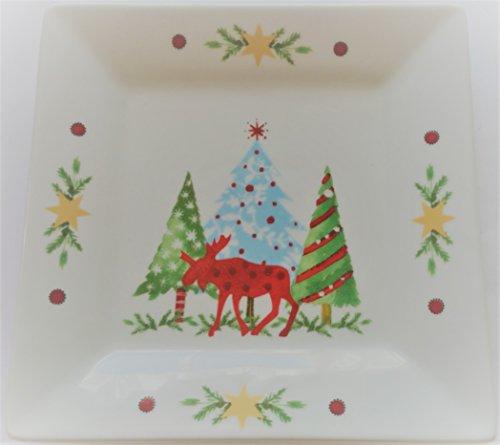 Teller Dessertteller Kuchenteller Porzellan ppd Weihnachten 15x15 cm