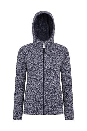 Mountain Warehouse Nevis Fleecejacke für Damen mit Reißverschluss - leichtes Sweatshirt für den Frühling, mit Taschen, atmungsaktiv - zum Spazierengehen, Wandern, Reisen Blau DE 48 (EU 50) (Mountain Warehouse Ski-jacke)