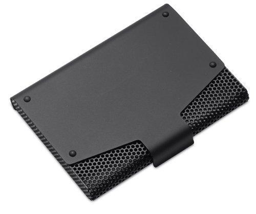 REFLECTS Visitenkartenbox mit einer einzigartigen Lochung aus hochwertigem Metall WHITSTABLE Schwarz