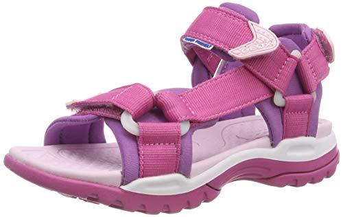 Geox Mädchen J Borealis Girl a Peeptoe Sandalen Pink (Fuchsia/Purple C8315) 39 EU